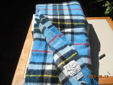 100% Wool picnic blanket car rug dress Thomson 55 x 65 Scotland