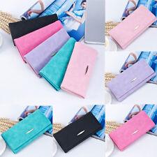 Women Envelope Leather Wallet Hasp Card Holder Trifold Handbag Clutch Purse US