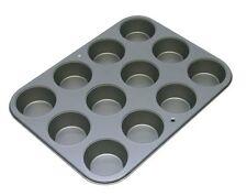 Nonstick 12 Cup Muffin Baking Pan Bakeware Cupcake Kitchen Steel Oven Sheet
