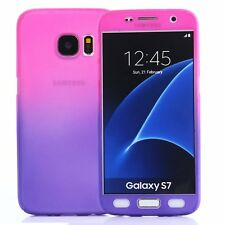 360° Gradient Full Body Hard Case W/Tempered Glass Protector Cover For Samsung