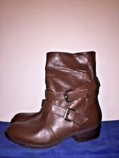 MADELINE Girl Leather Slouch Mid Calf or Ankle High Heel Boots Womens Shoes Sz 9