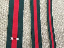 15meters*25mm Green Red Green Striped Woven Knitted Sewing Twill Tape Trim DIY
