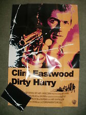 """""""DIRTY HARRY"""" (Clint Eastwood) - Large Film Poster - Professionally Folded - NEW"""
