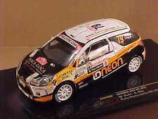 Ixo 1/43 Diecast Citroen DS3 R3, 2011 Rally Monte Carlo IRC, Neon, #79  #RAM459