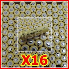 16 pcs Rechargeable NiCd AA 600 mAh Batteries for Solar-Powered Lights A16