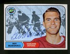 1968-69 Topps #79 BERT MARSHALL Autograph/Auto Card Oakland Seals