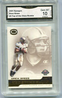 2001 Drew Brees Dynagon Top of the Class Rookie Gem Mint 10 #3