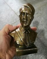 15cm Collectible Old Decorated Man Sculpture Adolf Bust Copper Memorial statue