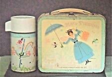 1965 Mary Poppins Lunch Box W/Thermos By Aladdin