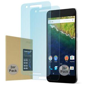 2x 9H Hartglas Huawei Nexus 6P HD Display Schutz Panzer Verbundglas Klar Folie
