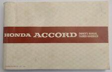 Honda Accord Multilingual Original Factory Owner's Manual, Honda part 36SE3720
