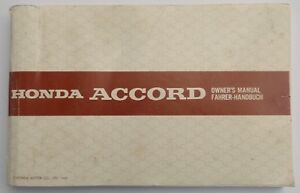 Honda Accord Multilingüe Original Factory Usuario Manual, Honda Parte 36SE3720