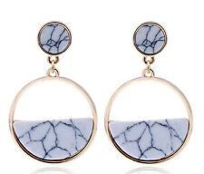 MARNI H&M White Oval Pendant Earrings