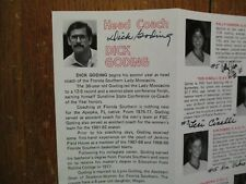 1983  Florida Southern Womens Basketball Guide(14 Signed/DICK GODING/DEIDRE LANE