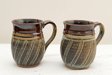 Made-in-the-USA Set of 2 Dishwasher-Safe Stoneware Mugs by Duck Creek Pottery