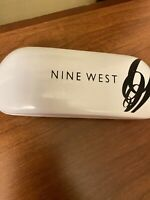 NINE WEST CLAMSHELL WHITE SUNGLASSES EYEGLASSES OPTICAL SMALL CASE ONLY