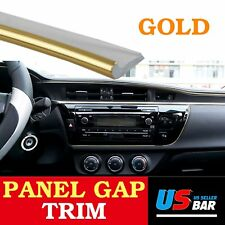 144inch Molding Trim Car Accessory Door Panel Edge Gap Strip Line Decorate Gold