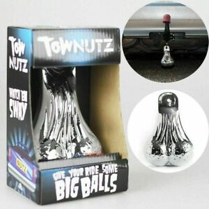 Chrome Tow Nutz - Novelty Nuts Balls Sack for Car Truck Trailer Tow Bar Gift
