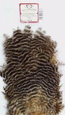 """HEN SADDLE PATCH    """"  GRIZZLY/SAND """"  Fly Tying"""