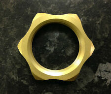 GOLD ALLOY CNC STEERING STEM YOKE NUT FITS SUZUKI GSXR400 RJ-RW 1988-1998