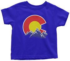 Colorado Mountain Toddler T-Shirt State Flag Denver