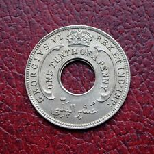 British West Africa 1943 copper-nickel 1/10 penny