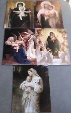 New 25 Religious Art Bougeureau 5 Different Designs Religious Christmas Cards