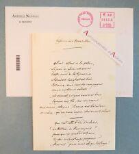 Jean-Louis DEBRE carte de voeux 2006 manuscrit Hymne des Marseillais fac similé