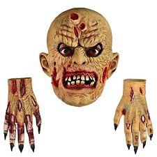 Walking Dead Zombie Walker Voller Kopf Latex Maske & Handschuhe Halloween Kostüm
