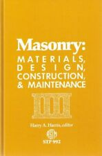 Masonry  Materials Design Construction and Maintenance  Astm Special