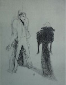 TOULOUSE-LAUTREC: The Ghost - Lithography Signed, 1927