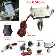 New listing Cell Phone Holder w/ Usb Charger for Honda Shadow 600 700 750 1100 Vtx 1300 1800