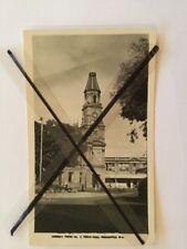 ANTIQUE VINTAGE BLACK WHITE PHOTO POSTCARD OLD FREMANTLE WA TOWN HALL BUILDING