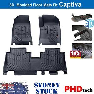 Premium Quality 3D TPE All Weathe Floor Mats Liner fit all Holden Captiva 5 & 7