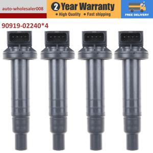 4PCS Ignition Coils for Toyota Yaris 2005-2013 Prius Echo 1.3L 1.5L 90919-02240