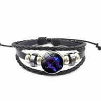 Damen Herren Surferarmband Sternzeichen Schütze Blau Geschenk Bracelet Chunk