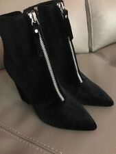 Ladies Guess black velvet Ankle Boot size Uk 3.5 Eu 36.5 New