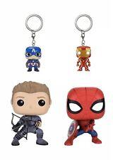 Funko Marvel: Civil War Hawkeye, Spiderman, Iron Man & Captain America Keychain