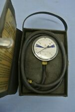 VINTAGE GAS PRESSURE GAUGE AND CASE 0-15 INCHES OF WATER NATURAL LP GAS SETTING