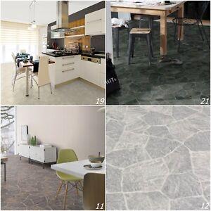 Vinylboden PVC Bodenbelag Bruchstein mediterran 2m 3m 4m Designboden ab 18,99 €