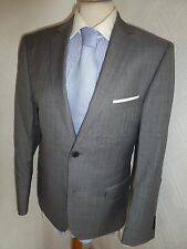 MENS TED BAKER ENDURANCE GREY SUMMER PROM WOOL SUIT JACKET 38 WAIST 32 LEG 29.5