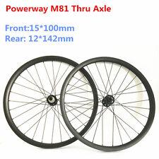 "29"" carbon asymmetric mtb wheelset 33 width carbon wheels 15*100 12*142 Sram XD"