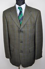 HUGO BOSS Tartan Check Pattern Blazer UK 40 Jacket Tweed Top EU 50 Gr Karo Sakko