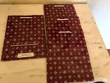 "Lot Of 4 Longaberger Gift Bags 10"" x 8"" Woven Traditions Paprika Red Design"