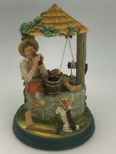 """1995 Coca-Cola """"Boy Resting at the Well"""" Norman Rockwell Figurine"""