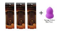 Physicians Formula Bronze Glow-Boosting Light to Med (3 Pack) + Makeup Sponge