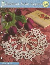 Fleur De Lis Centerpiece Doily Crochet Pattern - Heirloom Table Toppers