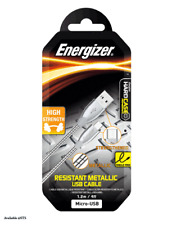 Energizer Resistant Metallic Micro-usb Cable High Strength 1.2m Silver