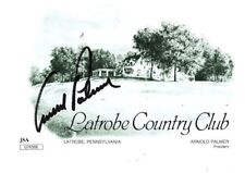 "Arnold Palmer Signed Latrobe Country Club Score Card  ""JSA Authenticated"""