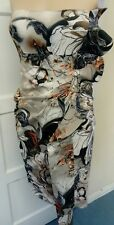 GORGEOUS KAREN MILLEN FLORAL PRINT  DRESS SIZE 12 stretchy wiggle